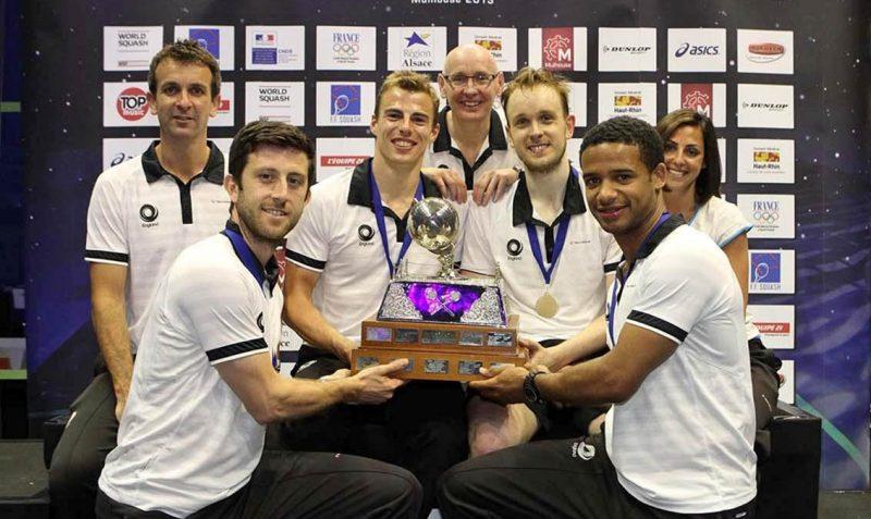 2013 Men's World Team Champions England - Robertson pictured centre