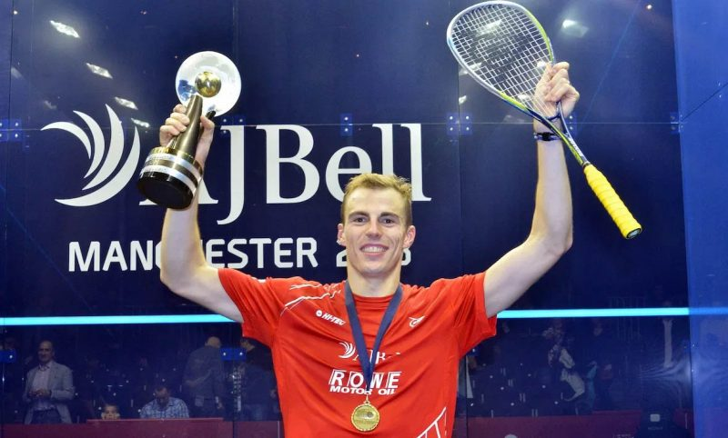 Nick Matthew with the 2013 World Championship title