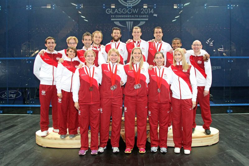 Team England at the 2014 Commonwealth Games - Robertson pictured top right