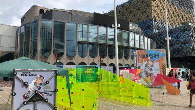 Squash set up at Birmingham's Centenary Square